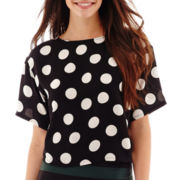 MNG by Mango® Elbow-Sleeve Polka Dot Top