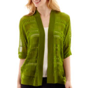 Worthington® 3/4-Sleeve Open-Front Cardigan Sweater