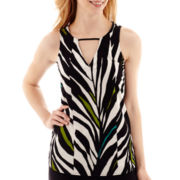 Worthington® Double V-Neck Halter Top - Tall
