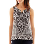 Unity Sleeveless Micro-Jersey Knit Top - Petite