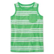 Okie Dokie® Striped Tank Top - Preschool Boys 4-7