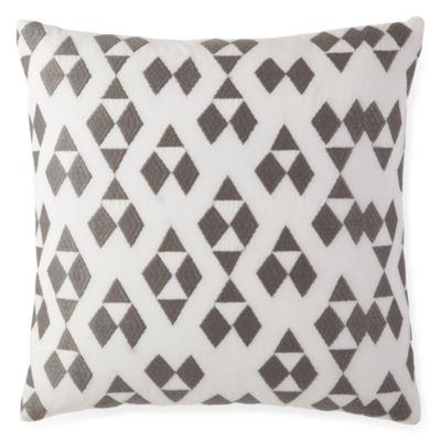 Bellina White Square Decorative Pillow
