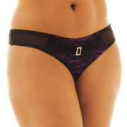 Urban Intimates Celebrity Sexy Jeweled Thong Panties - Plus