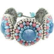 Pannee Blue & Pink Crystal Rope Bracelet
