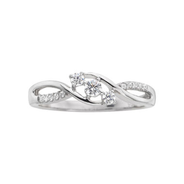 jcpenney.com | 1/5 CT. T.W. Diamond Three-Stone Promise Ring