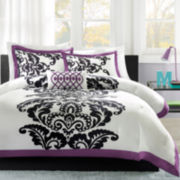 Mi Zone Capri Damask Comforter Set