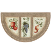 Fresh Fruit Washable Wedge Rug