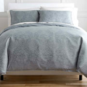 Royal Velvet® Damask 3-pc. Duvet Cover Set