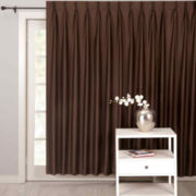 Supreme Palace Antique Satin Pinch-Pleat Lined Patio Panel