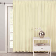CLOSEOUT! Supreme Palace Antique Satin Pinch-Pleat Lined Patio Panel
