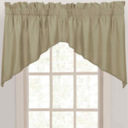 CLOSEOUT! Supreme Palace Antique Satin Rod-Pocket Shaped Valance