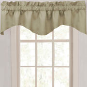 Supreme Palace Antique Satin Rod-Pocket Scalloped Valance
