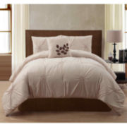 London 4-pc. Pleated Comforter Set