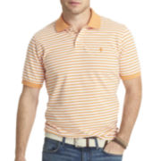 IZOD® Feeder-Striped Piqué Polo