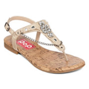 Pop Liliana Jeweled T-Strap Sandals