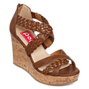 Pop Chicago Braided Wedge Sandals