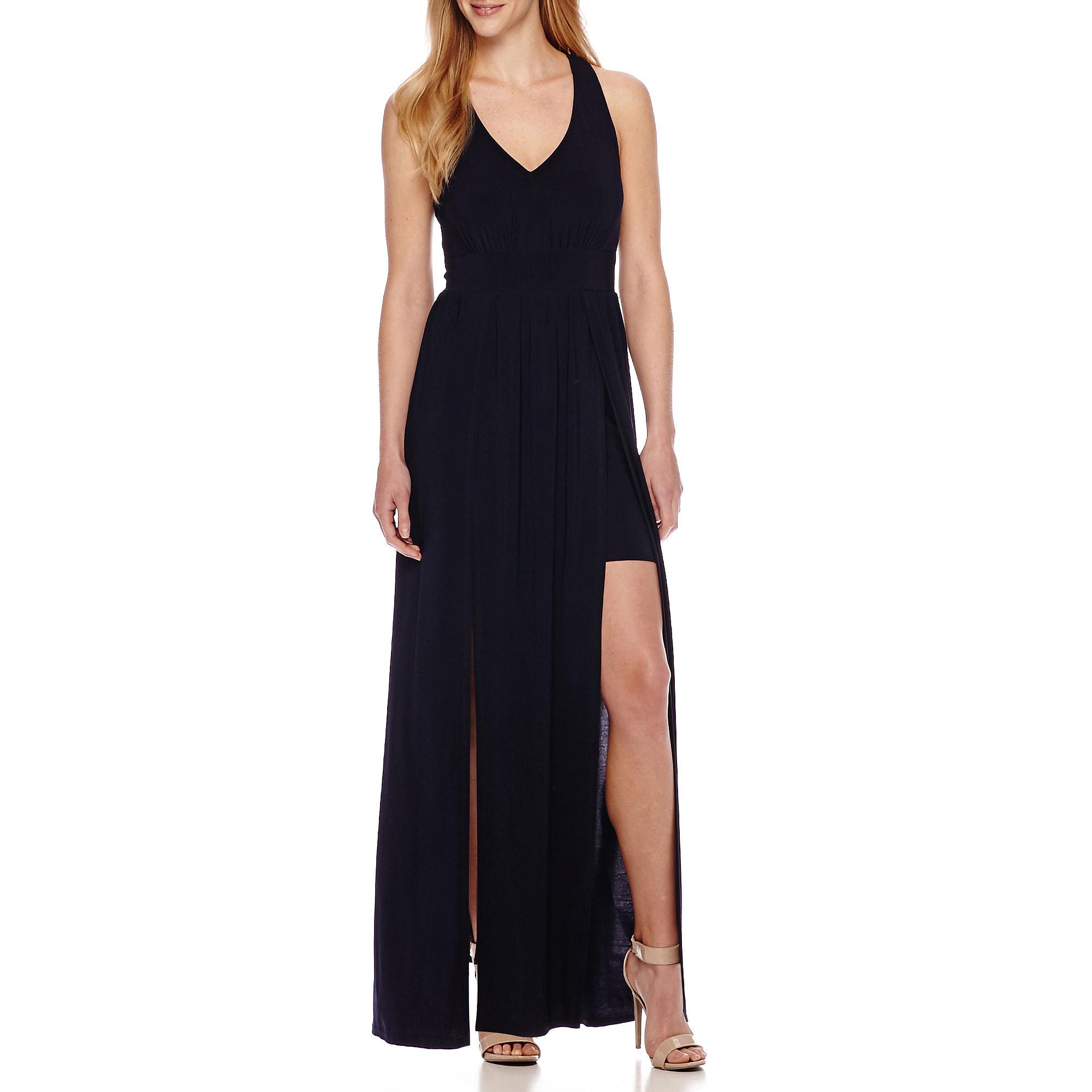 Rebecca B Sleeveless Panel Skirt Maxi Dress plus size,  plus size fashion plus size appare