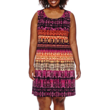 jcpenney.com | RN Studio by Ronni Nicole® Sleeveless Pleated Dress - Plus