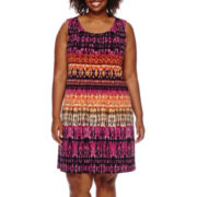 RN Studio by Ronni Nicole® Sleeveless Pleated Dress - Plus