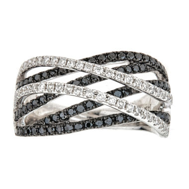 jcpenney.com | LIMITED QUANTITIES  1 CT. T.W. Color-Enhanced Black Diamond 14K White Gold Ring
