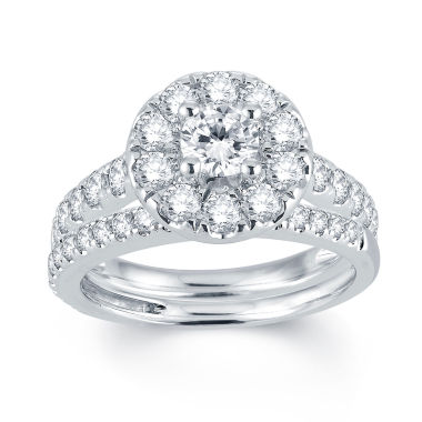 jcpenney.com | Modern Bride® Signature 2 CT. T.W. Diamond 14K White Gold Engagement Ring