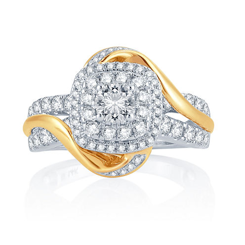 1 1/2 CT. T.W. Diamond 14K Two-Tone Gold Engagement Ring