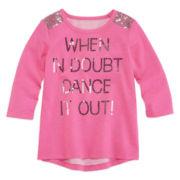 Total Girl® Long-Sleeve Sequin Top - Preschool Girls 4-6x