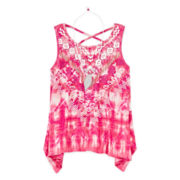 Arizona Tie-Dye Tank Top with Necklace - Girls 7-16