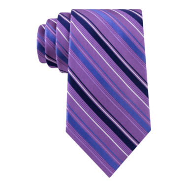 jcpenney.com | Stafford® Lakefront Track Stripe Silk Tie