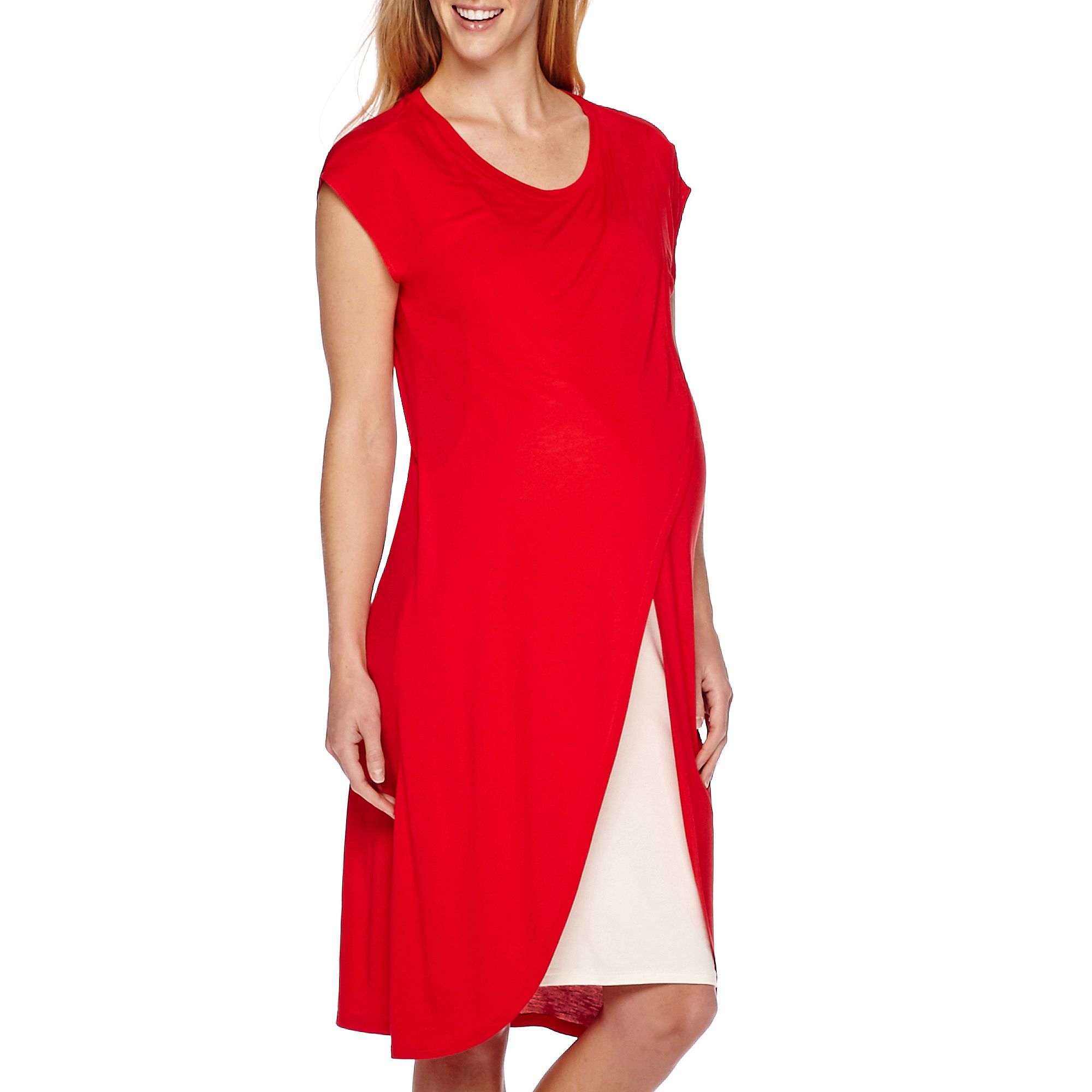Maternity Cross-Over Cotton Nursing Dress plus size,  plus size fashion plus size appare