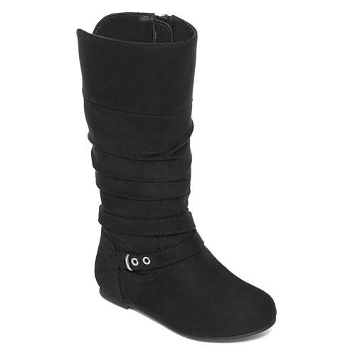 Okie Dokie® Flynn Girls Scrunch Boots - Toddler