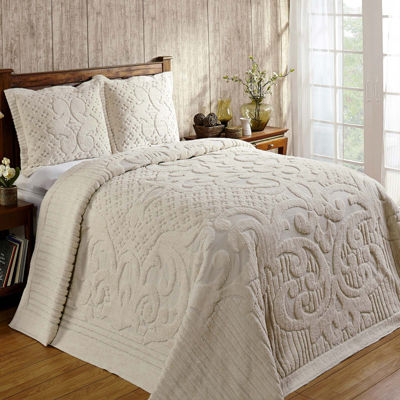 Chenille Bedspreads.Better Trends Ashton Chenille Bedspread