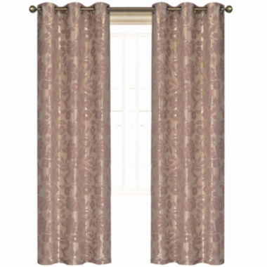 jcpenney.com | Laura Ashley® Duchess 2-Pack Grommet-Top Jacquard Curtain Panels