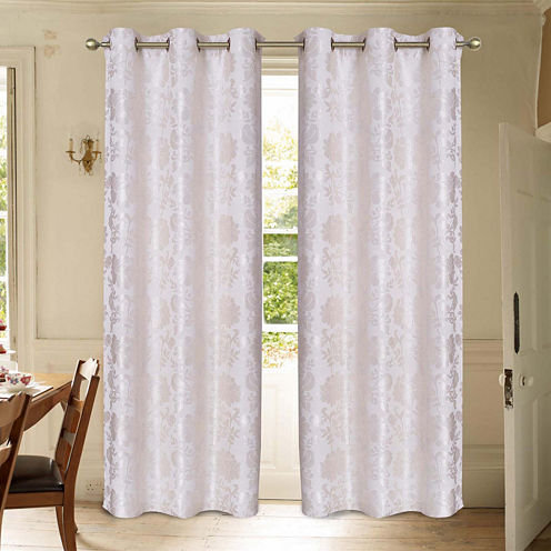 Laura Ashley® Renee 2-Pack Grommet-Top Curtain Panels