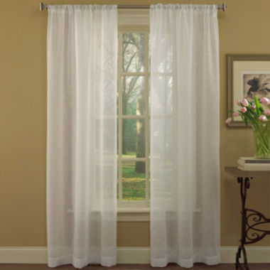 jcpenney.com | Laura Ashley® Diane 2-Pack Rod-Pocket Sheer Curtain Panels