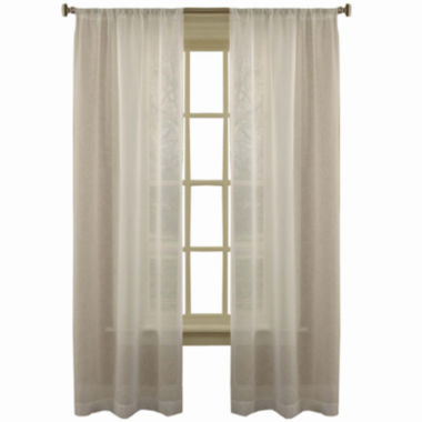 jcpenney.com | Laura Ashley® Frosting Rod-Pocket 2-Pack Sheer Curtain Panels