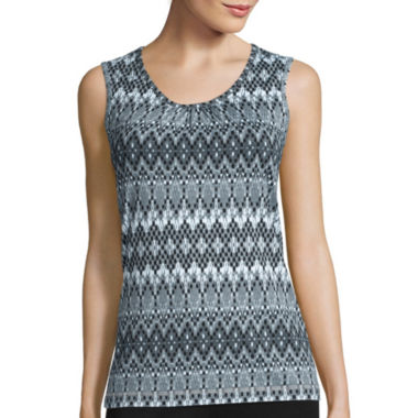jcpenney.com | Made for Life™ Sleeveless Shirred Scoop Tee - Petite