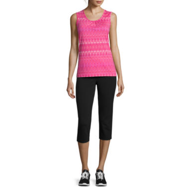 jcpenney.com | Made for Life™ Sleeveless Shirred Scoop Tee or Capris