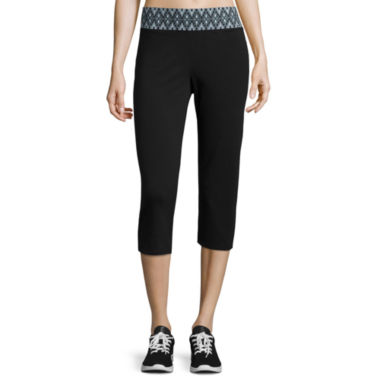 jcpenney.com | Made for Life™ Printed Waistband Capris - Tall