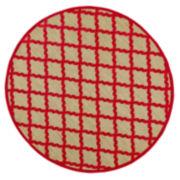 Feizy Rugs® Tahla Diamond Indoor/Outdoor Round Rug