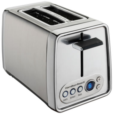 jcpenney.com | Hamilton Beach® Modern Chrome 2-Slice Toaster with Digital Shade Selector Display