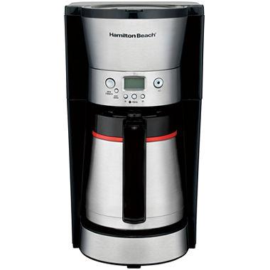 Thermal Coffee Maker Red : Hamilton Beach Programmable Thermal Coffee Maker 46896A - JCPenney
