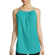 Worthington® Sleeveless Pleat Front Halter Top
