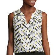 Worthington® Sleeveless Button-Down Blouse