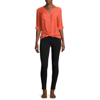 jcpenney.com | Alyx® Long-Sleeve Roll-Cuff Gauze Top or Slim-Leg Millennium Pants