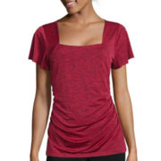 Alyx® Short-Sleeve Squareneck Knit Top