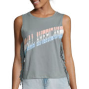 Arizona Americana Fringe Tank Top or Roll-Cuff Denim Cropped Jeans