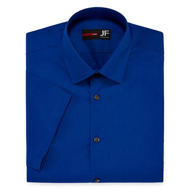 Jf j ferrar short sleeve slim fit dress shirt jcpenney for J ferrar military shirt