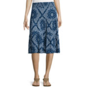 St. John's Bay® Knit Short Skirt