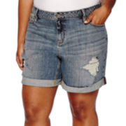 a.n.a® Boyfriend Denim Shorts - Plus